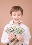 affärsmanståendebarn Fotografering för Bildbyråer