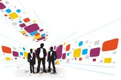 affärsmanstanding stock illustrationer