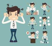 AffärsmanStress Pressure Workplace pinne vektor illustrationer
