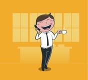 AffärsmanTalking mobil Arkivfoton