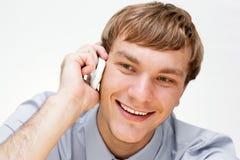 affärsmantelefonsamtal Arkivfoto