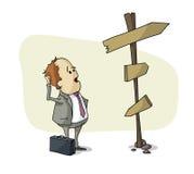 Affärsmanval Stock Illustrationer