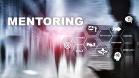 AffärsMentoring Personlig coachning Utbildande personligt utvecklingsbegrepp Blandat massmedia royaltyfri foto
