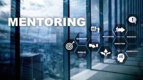 AffärsMentoring Personlig coachning Utbildande personligt utvecklingsbegrepp Blandat massmedia arkivbild