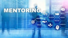 AffärsMentoring Personlig coachning Utbildande personligt utvecklingsbegrepp Blandat massmedia arkivbilder