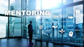 AffärsMentoring Personlig coachning Utbildande personligt utvecklingsbegrepp vektor illustrationer