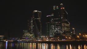 Affärsmitt i Moskvastad stock video
