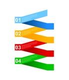 Affärsmomentpapper och nummerdesignmall Royaltyfri Illustrationer