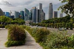 Affärsområde, stad av Singapore royaltyfria bilder