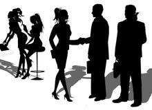 affärspartnerskapfolk vektor illustrationer