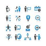 Affärspersonalresurssymbol stock illustrationer