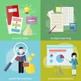 Affärsplan, budget- planläggning, sökandeaktieägare Arkivfoto