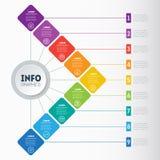 Affärspresentation eller infographic med 9 alternativ Exempel av Royaltyfria Foton