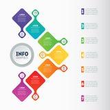 Affärspresentation eller infographic med 7 alternativ Rengöringsduk Templat Royaltyfria Foton