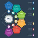 Affärspresentation med 6 alternativ Dynamiskt infographic för vektor Fotografering för Bildbyråer