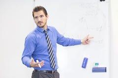 Affärspresentation på företags möte arkivbild