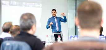 Affärspresentation på företags möte fotografering för bildbyråer