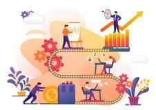 Affärsprocess av den framgångArchievement metaforen royaltyfri illustrationer