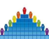 affärspyramid Vektor Illustrationer