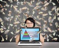 Affärspyramid Arkivbild