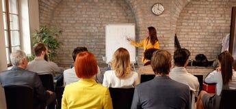 Affärsregel och presentation arkivbild