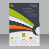 Affärsreklamblad, broschyrdesign Abstrakt vektormall i formatet A4 Royaltyfria Foton