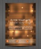 Affärsreklambladmall eller företags baner, räkningsdesign Arkivfoto