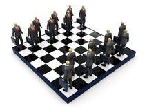affärsschack vektor illustrationer