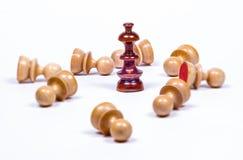 Affärsschack figurerar monopol Royaltyfri Bild