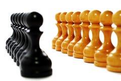 affärsschackstrategi Royaltyfri Bild