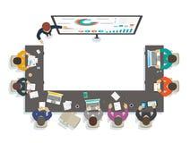 Affärsseminarium Läraren ger utbildning vid analytics royaltyfri illustrationer