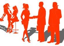 affärssilhouette royaltyfri illustrationer