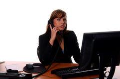 affärsskrivbordkvinna Arkivbild