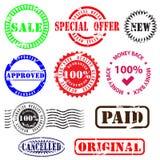Affärsskyddsremsor och emblem royaltyfri illustrationer