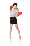 affärsslagsmålkvinna arkivfoton