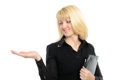 affärsståendekvinna Arkivfoton