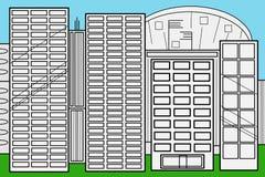 Affärsstadsskyskrapor Arkivbild