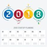 Affärsstart som 2018 planerar den infographic vektorn Royaltyfria Bilder