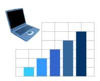 affärsstatistik Arkivbild