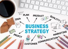 Affärsstrategi, investeringbegrepp royaltyfri fotografi