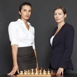 affärsstrategi tänker två kvinnor Royaltyfri Fotografi