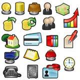 affärssymboler Arkivbild