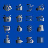 Affärssymboler eller knappar Royaltyfri Illustrationer