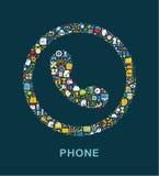 Affärssymboler grupperas Fotografering för Bildbyråer