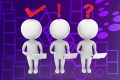 Affärssymboler med illustrationen för person 3d Arkivbilder