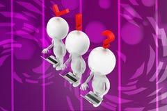 Affärssymboler med illustrationen för person 3d Royaltyfri Fotografi