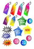 Affärssymboler, rengöringsduk eller app Royaltyfri Illustrationer
