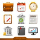 Affärssymboler set1 Arkivfoton