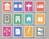 Affärssymbolsklistermärke Arkivfoto