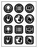 affärssymbolsset Arkivfoton